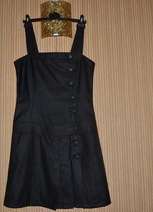 L/40 стильный сарафан от cop.copine,  офисное платье, школьный сарафан, школьная одежда