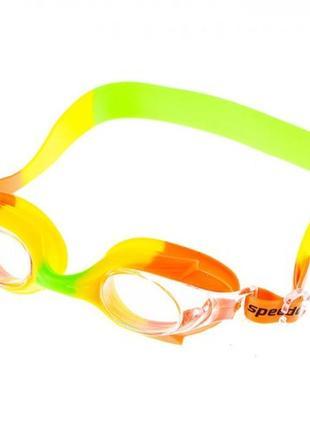 Очки для бассейна детские и подростковые оранжевые