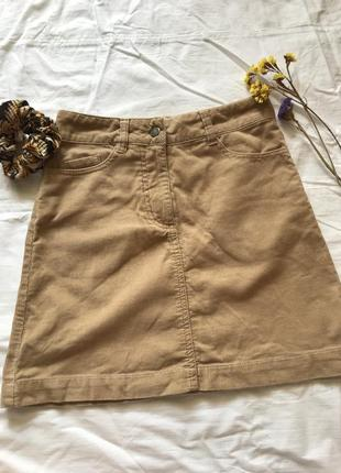 Стильная вельветовая юбочка на девочку 7-8 лет от hm