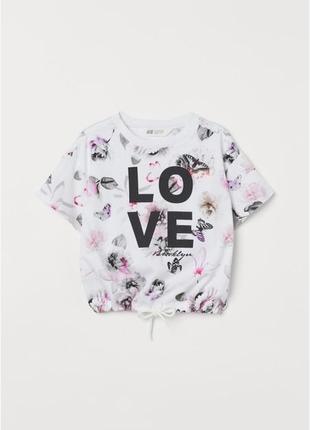 Стильные укороченные футболки h&m девочкам