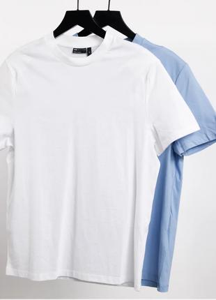 Asos комплект из 2 шт. футболка из органического хлопка asos