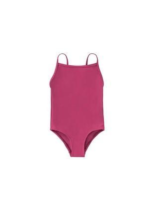 Купальний суцільний рожевий/фукція swimsuit