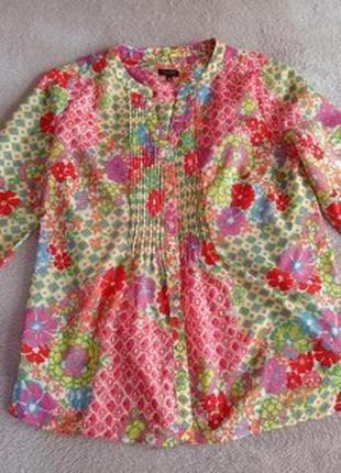 Натуральная легкая хлопковая блуза