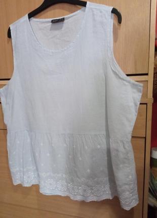 Брендовый блуза топ, из батиста и вышивки решелье