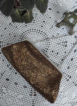 Атласная сумочка клатч из бисера