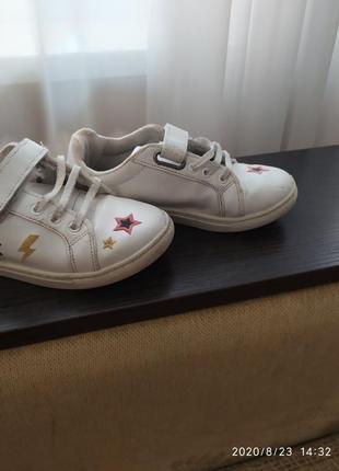 Кожаные кроссовки1 фото