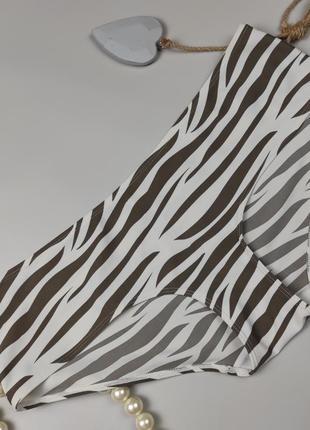 Купальник плавки низ красивые пляжные в принт зебра george uk 16/44/xl