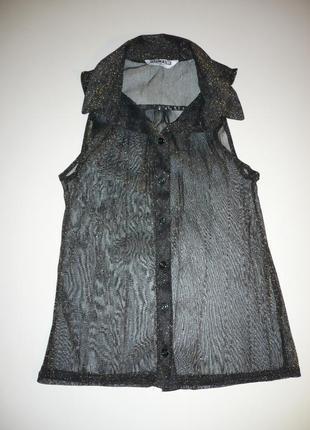 Рубашка черная с золотистым люрексом р.6-8