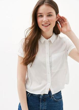 Белая блуза bershka