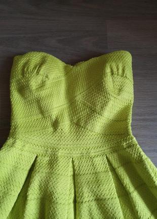 Бомба! лимонное бандажное платье