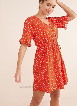 Шикарное вискозное платье в сердечки next 12 размер