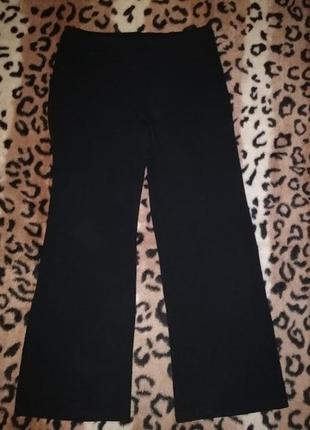 Черные женские трикотажные брюки, штаны marks&spencer