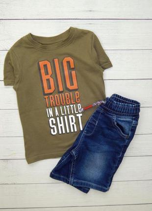 Стильный комплект, для мальчика 2-3 года. шорты и футболка.