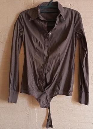 Боди рубашка в полоску от benetton