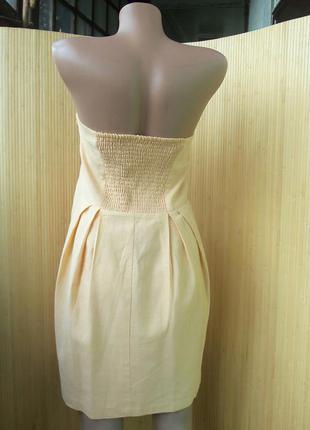Льняное летнее платье сарафан под грудь бюстье l/xl3