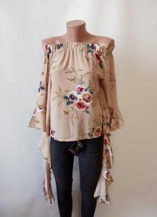 Оригинальная блуза с необычными рукавами