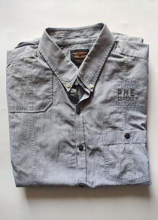 Рубашка pme legend xl cotton серая полоска
