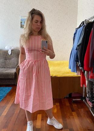Красивое женственное платье в полоску от oodji