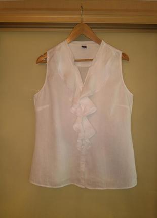 Белоснежная льняная блузка s.oliver (100% лён)