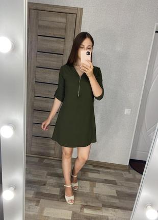 Платье цвет хаки зеленое papaya size 10