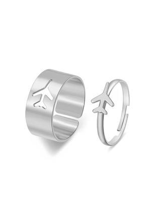 🔗1+1=3 парные кольца набор колец бабочки трендовое кольцо с бабочкой массивное кольцо серебряное кольцо
