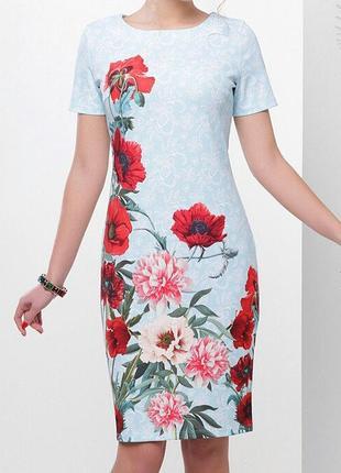 Роскошное нарядное платье цветочный принт
