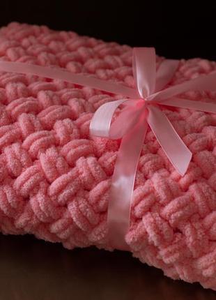 Детское плюшевое одеяло - плед из ализе пуффи