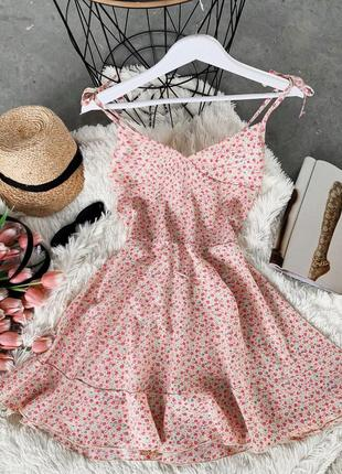 Женское легкое летнее платье на завязках