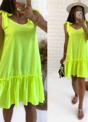 Женское платье рюшик свободного кроя