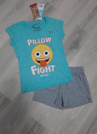 Комплект летний, домашний костюм, пижама emoji 116 см