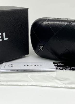Женский футляр чехол для очков чёрный плотный с фирменной коробкой и салфеткой