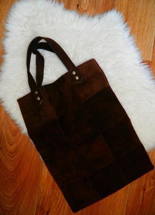 Сумка шоппер натуральный замш 👗💄 сумка женская