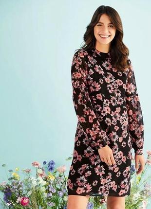 Стильное шифоновое платье в цветочный принт р.42, 44 евро esmara, германия