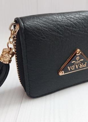 Стильний жіночий гаманець prada ( чорний )