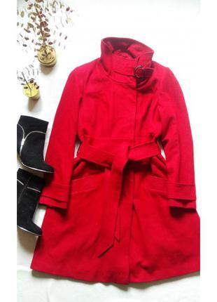 """Классическое красное тёплое шерстяное пальто """"next"""" линия signature"""