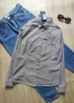 Стильная рубашка в черную полоску, сорочка, офисная рубашка, рубашка в деловом стиле, блузка