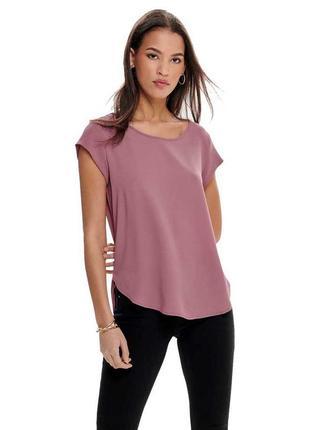 Базовая блуза с коротким рукавом для офиса
