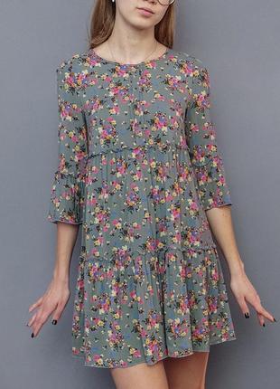 Легкое воздушное летнее ярусное платье