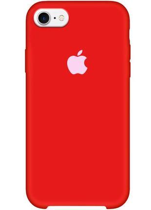 "Чехол для apple iphone 7 / 8 (4.7"") (красный / dark red)"