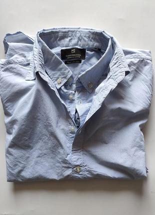 Рубашка scotch&soda xl cotton slim fit небесно голубая