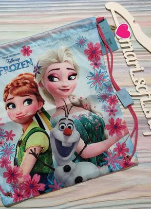 Голубая сумка для сменки с frozen disney