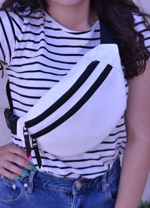 Поясная сумка бананка / сумка через плечо на пояс / экокожа / барсетка клатч