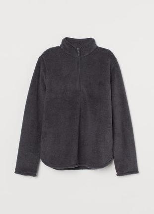 Джемпер жіночий темно-сірий. джемпер из имитации овчины.теплая кофта.