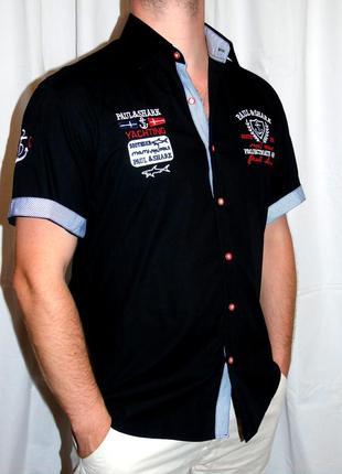 Paul & shark шикарная брендовая рубашка - xl - l