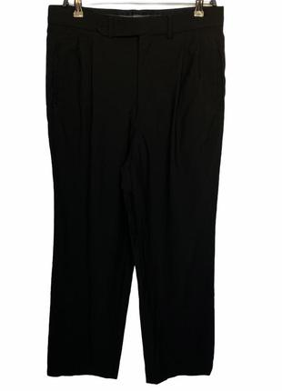 Трендовые чёрные брюки плаццо с защипают giorgio armani