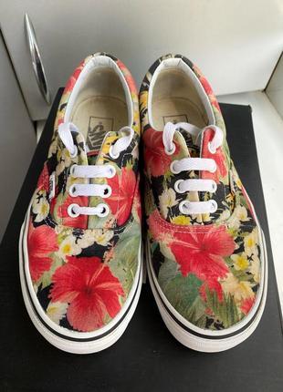 Кеды vans off the wall оригинал в цветы