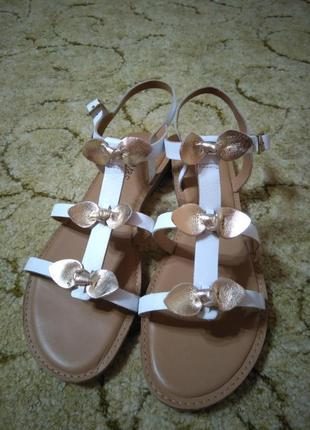 Женские кожаные босоножки / сандалии marks & spencer (100% кожа)