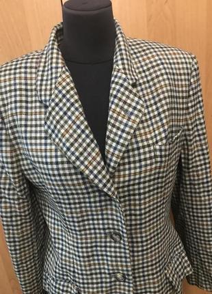 Шерстяной удлиненный твидовый пиджак  antonio fusco milano италия