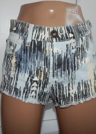River island шорты джинсовые модные короткие uk8 eur36