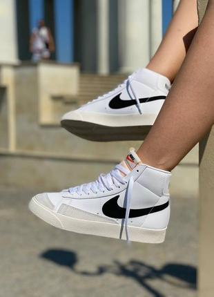 Женские кроссовки жіночі кросівки nike blazer vintage хайтопы 36-41 белые